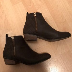Just Fab brown booties size 8